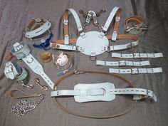 AB/DL Leather Adult Baby Chest/Diaper Harness and Complete Acessory Set