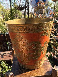 Vintage Hollywood Regency Waste Basket-- by AlloftheAbove on Etsy