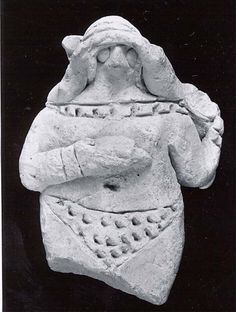 Figurine from Ur III, ca. 2100-2000 BCE, Mesopotamia, Nippur, Neo-Sumerican, ceramic.