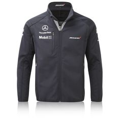 Team McLaren Ltd McLaren Mercedes 2014 Team Softshell Jacket Team Jackets, Men's Coats And Jackets, Camisa Formula 1, Corporate Shirts, Trendy Outfits, Fashion Outfits, Mclaren Mercedes, Mercedes Benz, Work Uniforms