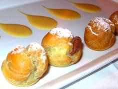 Bignole - pastry puffs filled with Belgian Gianduja chocolate cream @ Piccolo. Venice Beach