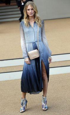 Poppy Delevingne at Burberry, London Fashion Week
