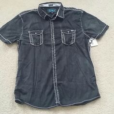 Mens Roar shirt medium Tactful Jr NWOT New with tag.  98% cotton 2% spandex.  Please check my other listings.   Thank you for looking and have a great day. Buckle Shirts