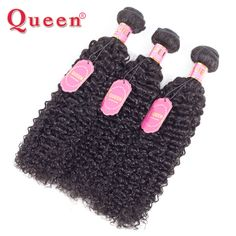 Queen Hair Products Mongolian Kinky Curly Hair 1Piece Only 100% REMY Human Hair Weaving Natural Color 10-28Inch