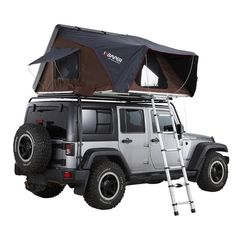iKamper's Skycamp is an innovative, expandable hard shell rooftop tent that sets up in 1 minute and sleeps 4 people. Whether it's the aerodynamic double-layered hard shell, the aluminum honeycomb panels, or the custom molds, iKamper focuses on quality. Top Tents, Roof Top Tent, Jeep Tent, Tent Fabric, Rain Fly, Canvas Tent, King Size Mattress, Thing 1, Anos 60