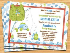 Fishing Baby Shower Invitation By Eventfulcards On Etsy