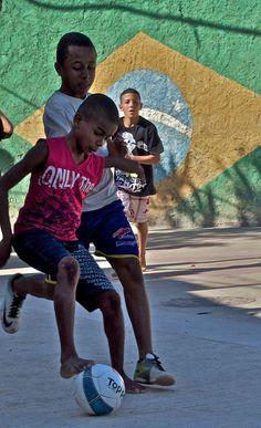Kids playing soccer in a Favela, Rio de Janeiro, Brazil. @DrinkBODYARMOR @Influenster  #BODYARMORMom  #contest