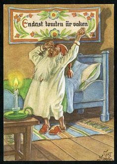 Julkort av Curt Nyström. Postat år 1967.