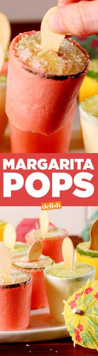 Oh the yumminess: Which flavor of these boozy Margarita Pops speaks . Party Drinks, Cocktail Drinks, Fun Drinks, Alcoholic Drinks, Mixed Drinks, Cocktail Recipes, Dessert Drinks, Holiday Cocktails, Frozen Drinks