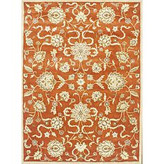 Alliyah Handmade Rusty Orange New Zealand Blend Wool Rug (9 x 12)