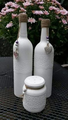 Botellas pintadas