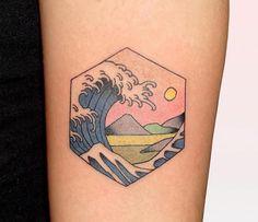 Japanese Style Tattoos Put Modern Twist on Japanese Woodblock Prints