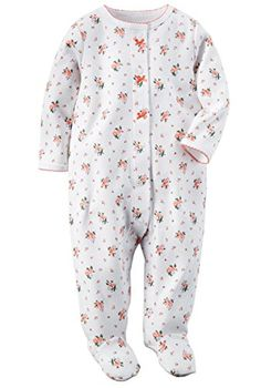 fc3e4d4a41 Carters Baby Girls 1 Pc Cotton Sleep Play 6 Months Flower Bouquets     You