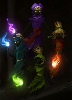 Ocarina Of Time- The Poe Sisters of the Forrest Temple.
