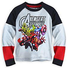 Avengers Assemble Long Sleeve Tee for Boys