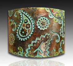 Perfectly paisley copper and patina polymer by adrianaallenllc, $16.00