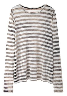 Proenza Schouler / Striped Tissue Long Sleeve
