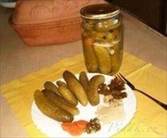 Picture of Recept - Nakládané okurky od Vali – vynikající Sausage, Recipes, Food, Sausages, Essen, Meals, Ripped Recipes, Yemek, Eten