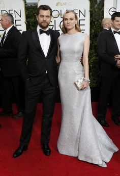 Actors Diane Kruger and Joshua Jackson arrive at the 72nd Golden Globe Awards in Beverly Hills