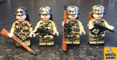 WW2 minifigure German Wehrmacht camo sniper squad soldier army infantry & MP40 | eBay