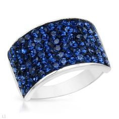Sterling Silver Crystal Ladies Ring. Ring Size 8. Total Item weight 4.5 g. VividGemz. $29.00. Save 79%! Blue Crystals, Cocktail Rings, Sterling Silver Rings, Jewelry Rings, Ring Ring, Ring, Rings