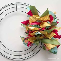 How to Make a Ribbon Wreath - Easy!