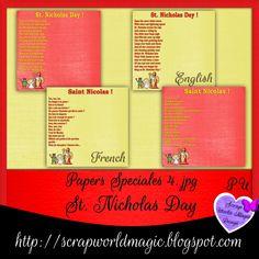 Digital Scrapbooking Freebies, Kit, St Nicholas Day, Magic Design, Paper