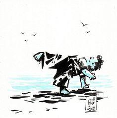 Encres : Capoeira - 82 [ #capoeira #ink #painting ]