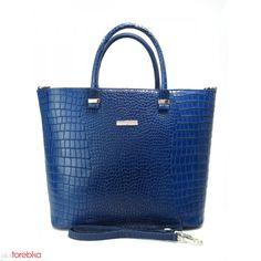 e943e667a73b9 Torebka Damska A4 Włoska Skóra Krokodyl Blue Jeans Niebieskie Dżinsy, Kate  Spade