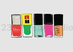 You favorite nail polish set illustration 5 x 7