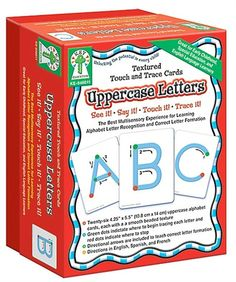 Textured Touch and Trace: Uppercase Manipulative