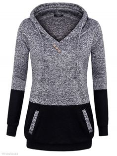 71e5737776ab SPECIFICATIONS Product Name  V Collar Splicing Pocket Long Sleeves Hoodie  Sku  YTT18103112 Gender