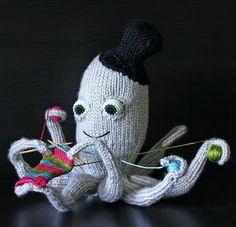 Tricoté Octopus.  Refroidir Idées Tricot projet