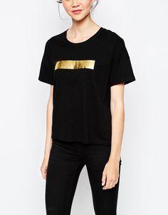 Dr Denim T-Shirt With Foil Strip
