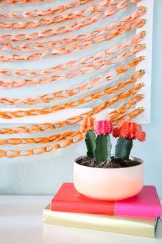 DIY faux woven wall