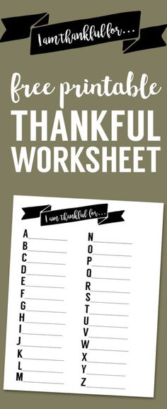 I Am Thankful Worksh