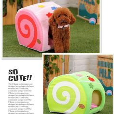 Comfortable Cake Pet Dog Cat Kennel Candy Color Cake Pet House Bed