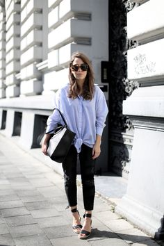 WEDGED | Fiona from thedashingrider.com wears a Ikks Blouse, a Jeans from Zara, Loeffler Randall Espadrilles and a Furla Bag #ootd #whatiwore #petite