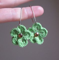 Earrings. All though crotchet'ed, it's still a must have item ;)