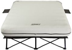 Coleman Queen Airbed Cot With Side Tables And 4D Battery Pump made our list of camping gifts couples will love and great gifts for couples who camp