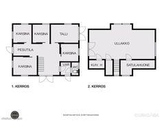 320 m² Pirunkallio 49, 03600 Karkkila Omakotitalo 5h myynnissä - Oikotie 13859943 Tallit, Floor Plans, Diagram, Floor Plan Drawing