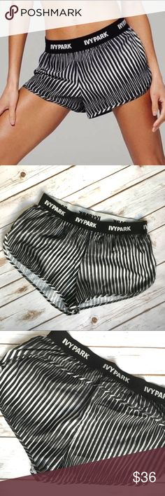 """🆕 Ivy Park Kaledidostripe Elastic Running Shorts These Ivy Park Kaledidostripe Elastic Waistband Running Shorts Size L & XL are NEW WITH TAGS and have never been worn. Details Lightweight printed running shorts cut for maximum mobility from a moisture-wicking, quick-drying fabric feature a logo-branded elastic waistband and come equipped with a mesh-brief liner.  - Interior key pocket - Approx. 10"""" rise, 3"""" inseam (size M)  Fiber Content 100% polyester Care Machine wash cold, dry…"""