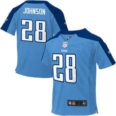 Nike Chris Johnson Tennessee Titans Infant Game Jersey – Light Blue
