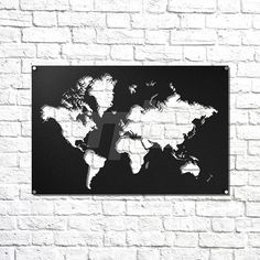 World map metal wall art 50 wide x 30 tall 5 separate pieces world map metal wall art we cut all our designs from 3mm cold rolled mild steel gumiabroncs Image collections