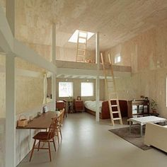This home is situated on a hillside overlooking the city of West Moiwa Sapporo in Japan.