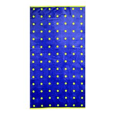 100% Cotton beach towel with purple and lime polka dots.  Product: Beach towelConstruction Material: 100% Cotton...