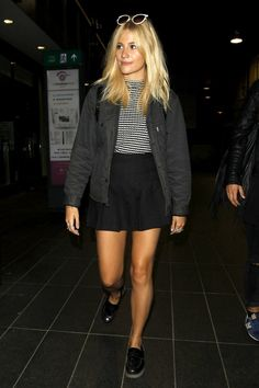 Pixie Lott love her personal style and this outfit, a casual skirt and top outfit.