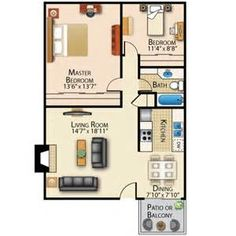 small house floor plans under 600 sq ft bing images - Small House Plans