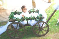 decorated wagon for ring bearer/flower girl