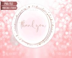 Printable Stickers, Printable Wall Art, Business Stickers, Chic Shop, Wedding Envelopes, Thank You Stickers, Seals, Rose Gold, Printables